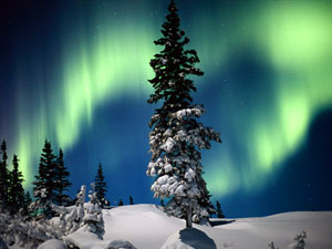 Wapusk Mountain National Park - aurora borealis