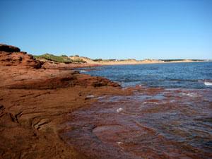 Prince Edward Island - red sand beach